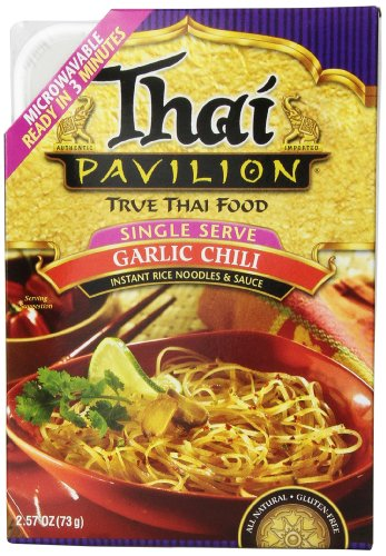 Thai Pavilion Single Serve Microwavable Garlic Chili, 2.57-Ounce Boxes (Pack Of 6)