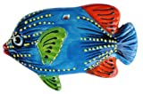 Ceramic Angel Fish Wall Hanger (Blue) - Hand Painted From Spain