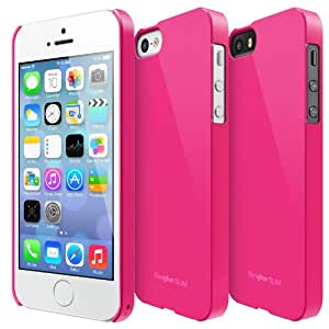 LF Pink - Apple iPhone 5 Ringke SLIM Light Feeling Premium Hard Case AT&T Verizon Sprint and Unlocked - Eco Package