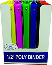 3 Ring Poly Binder - .5 Inch (48 Pieces) - 0.5\
