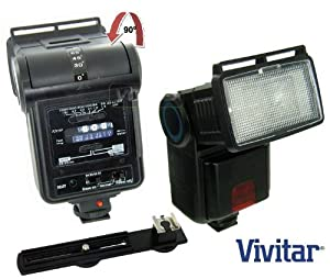 Vivitar SF4000 Bounce Zoom Slave Flash Enhance Photos, Colors & Saturation For The Nikon D5000, D3000 Digital SLR Cameras