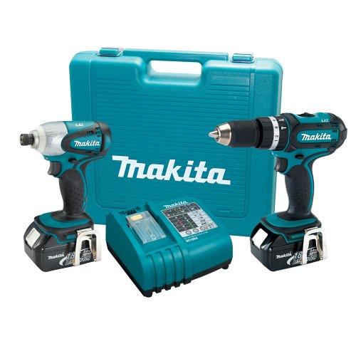 Makita LXT211 18Volt LXT LithiumIon Cordless 2Piece Combo Kit