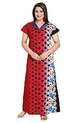 Vimal Fashion Cotton Multi Colour Printed Night Wear / Nightgown / Women Sleepwear / Womans Pyjamas (VF064)