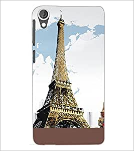 PrintDhaba Tower D-5430 Back Case Cover for HTC DESIRE 820 (Multi-Coloured)