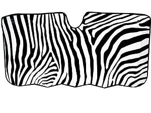 Zebra Stripes Car Windshield Sunshade - Large Size from LA Auto Gear