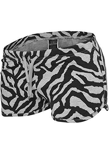 Urban Classics Ladies Zebra Hotpants Hotpants grigio/nero S