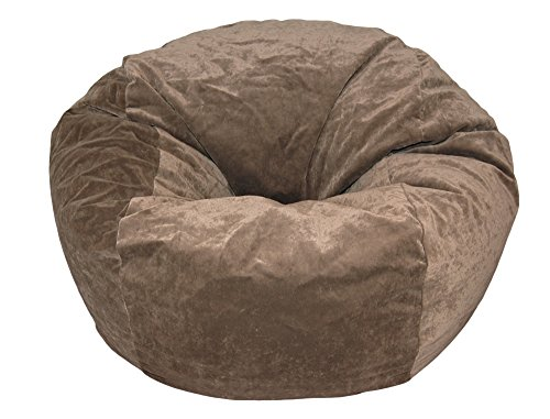 Ahh Products Microsuede Cocoa Brown Kid Bean Bag Chair