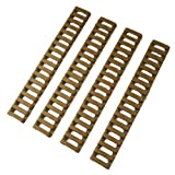 "7"" Handguard Ladder Rail Cover (18 Ladder Bar), Tan (pack of 4)"