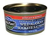 Wild Planet Wild Alaskan Sockeye Salmon, Skinless & Boneless, 6 Ounce Can (Pack of 12)