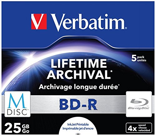 Verbatim (43823) : M-DISC BD-R 4x 5-pack : Blu-Ray Optical Media