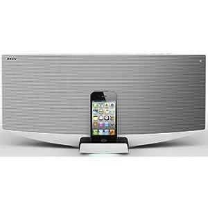 Sony CMT-V50iP Micro-chaîne avec station d'accueil pour iPod/ iPhone USB Blanc