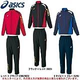 ASICS(アシックス) クロスジャケット パンツ 上下セット XA504N/XA554N メンズ (レッド×ブラック(2390/9023), L)