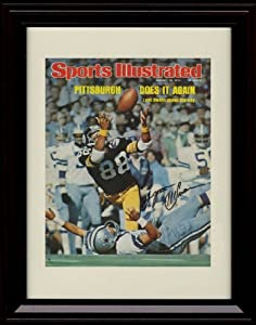 Framed Lynn Swann Sports Illustrated Autograph Print - Pittsburgh Steelers Super Bowl... by Framed Sport Prints