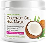 Coconut-Oil-Hair-Mask-Deep-Conditioner-100-Cold-pressed-Coconut-Oil-for-Hair-Argan-Shea-Butter-Rosehip-Oil-Repair-and-Moisturize-Dry-Damaged-or-Color-Treated-hair-all-hair-types-88-Oz