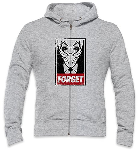 Disobey The Silence Mens Zipper Hoodie Large