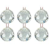 Reiki Crystal Products Clear Crystal Hanging Ball For Good Luck & Prosperity Healing Gemstone 6 Ball Set