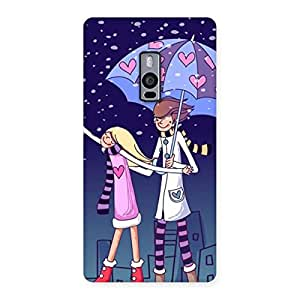 Enticing Anime Couple Multicolor Back Case Cover for OnePlus Two