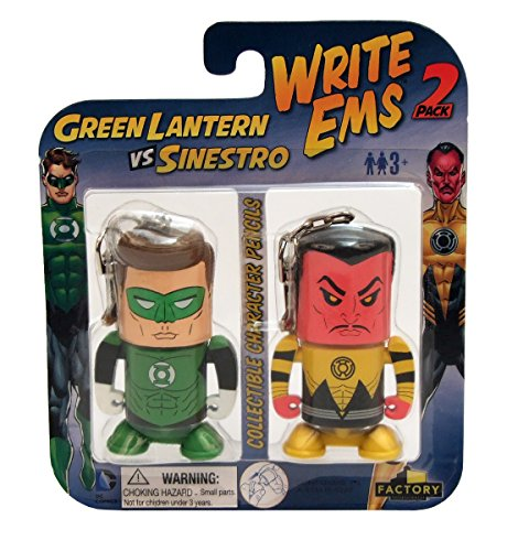 Factory Entertainment DC Write Ems (2-Pack), Green Lantern/Sinestro