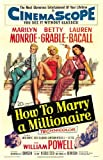 How to Marry a Millionaire Poster Movie C 27 x 40 In - 69cm x 102cm Lauren Bacall Marilyn Monroe Betty Grable William Powell David Wayne Cameron Mitchell