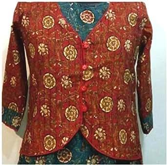Jaipuri Kalamkari Jacket With Inner Gown Kurti Bagru Print Designer Dress For Women And Girls ...