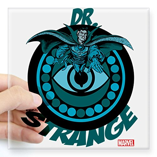 Doctor Strange Blue Square Sticker 3 x 3 Clear