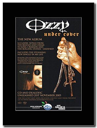 Ozzy Osbourne-Portariviste con la serie su un supporto, colore: nero