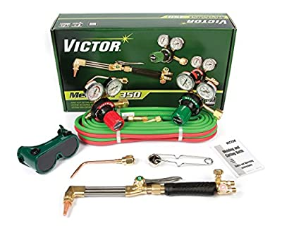 Victor Technologies 0384-2691 Medalist 350 System Heavy Duty Cutting System, Acetylene Gas Service, G350-15-300 Fuel Gas Regulator