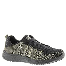 Skechers Burst First Glimpse Womens Sneakers Black/Gold 9