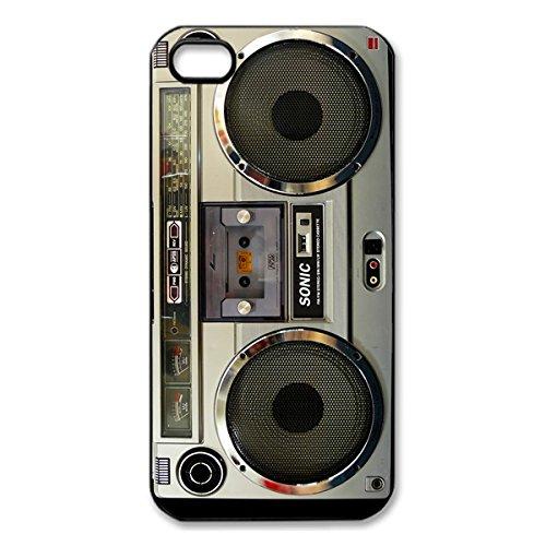 Nostalgic Boombox Vintage Hd Phone Case For Iphone 4/4S Case (Black)