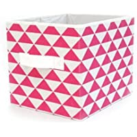 2-Set Mainstays Collapsible Fabric Storage Cube (Fuchsia Triangle)