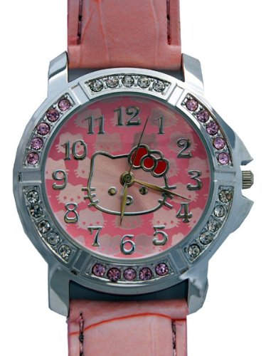 Hello Kitty Gorgeous Watch with Pink Croc Style Strap