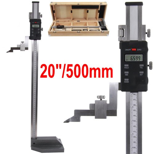 20/'/' 600MM Precision Electronic Digital Height Gage Guage 0-20/'/' Single Beam