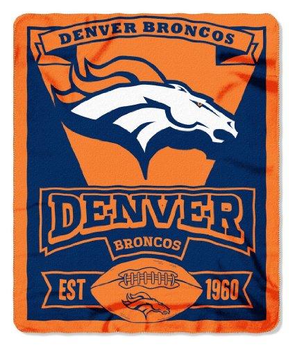 Denver Broncos 50X60 Fleece Blanket - Marque Design (Please See Item Detail In Description)
