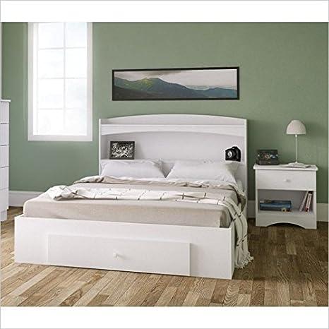 Nexera Vichy 3 Piece Bedroom Set in White and Melamine