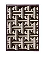 Tapis a Porter Alfombra Veranda Marrón/Beige 120 x 170 cm