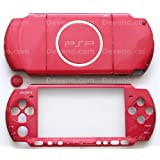 Carnival Red PSP 3000 Series Full Shell Cover Housing Replacement with Button Set