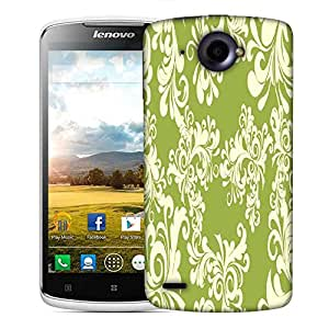 Snoogg Abstract White Green Pattern Designer Protective Phone Back Case Cover For Lenovo S920