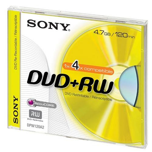 Sony Dvd+Rw Color Collection 5-Pack