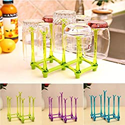 LussoLiv Tea Coffee Cup Mug Storage Draining Drying Rack Kitchen Organizer Shelf Stand Holder