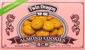 Twin Dragon Almond Cookies 15 Oz.