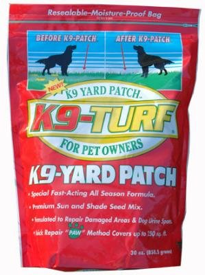 K9 Yard Patch- Super Fast Grass Repair 250SF of lawn!! Dog Urine, Salt, Disease, Heavy Traffic, or Just Plain Neglect.