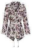 SS7 Women's Floral Raincoat, Plus Sizes 18 to 24 (UK - 22, Floral Print)