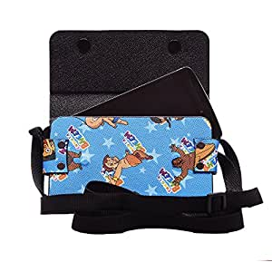 Colorkart Printed Mobile Pouch Handbag With Adjustable Strip For Lenovo P1ma40 Mobile Phone (Sky Blue)