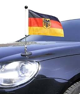 porte drapeau de voiture diplomat 1 allemagne avec blason d autorit s publiques adh sion. Black Bedroom Furniture Sets. Home Design Ideas
