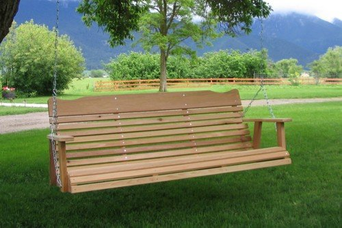 5' Cedar Porch Swing, Amish Crafted - Includes Chain & Springs