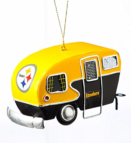 Team Sports America Metal Pittsburgh Steelers Camper Ornament at Steeler Mania
