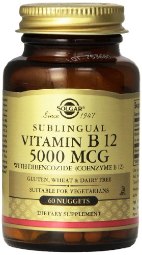 Solgar Vitamin B12 Nuggets, 5000 Mcg, 60 Count