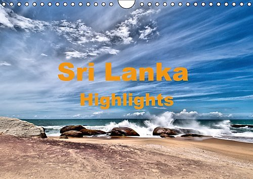 sri-lanka-highlights-wandkalender-2017-din-a4-quer-die-hohepunkte-einer-sri-lanka-rundreise-monatska