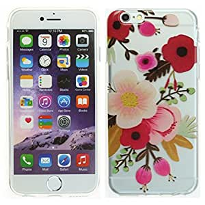 """Apple Iphone 6S 4.7"""" Case, DURARMOR® FlexArmor [Lifetime Warranty] Iphone 6S Cover Colorful Anemone Floral Flowers Clear Bumper ScratchSafe Clip On Case Protector Cover"""