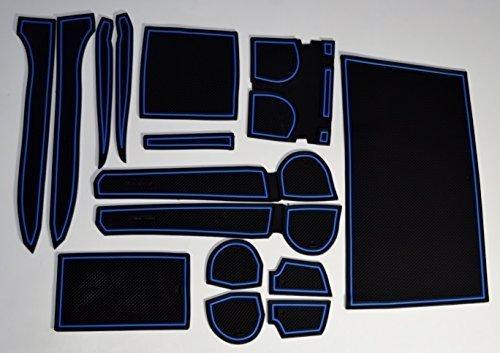 KINMEI Toyota Corolla Fielder blue E16 type specially designed interior door pocket mat drink holder slip non-slip storage space protection rubber mats TOYOTA COROLLA FIELDERcor-b (Toyota Fielder compare prices)